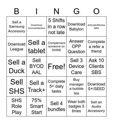 SOMETHING GOOD BINGO Card