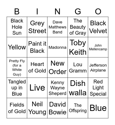 Colors!! Bingo Card