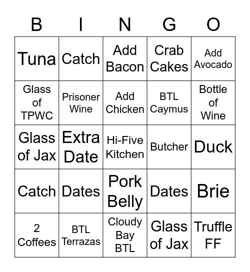 Dada Bingo Card