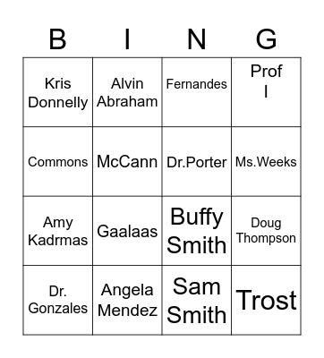 DFC Trivia Bingo Card