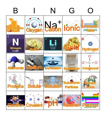 Life, Water, Chemistry Bingo Card