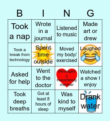 Self Care Bingo! Bingo Card