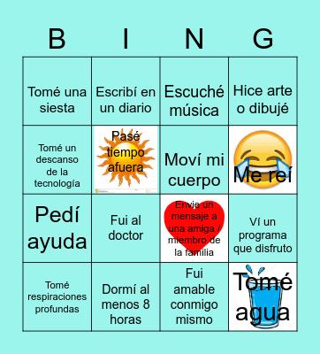 Bingo de Autocuidado! Bingo Card