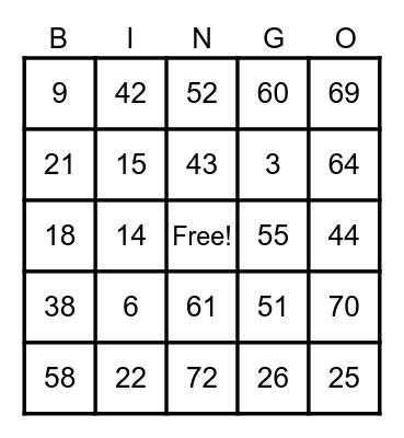 LES' BIRTHDAY BASH!!! Bingo Card