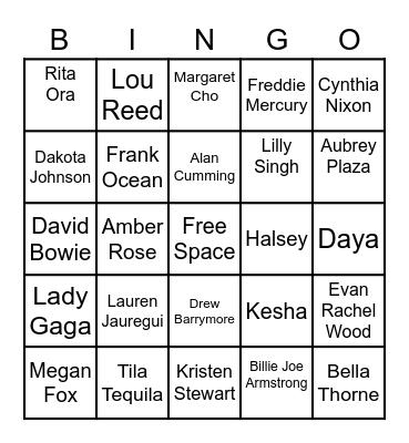 Bi-Bingo Card