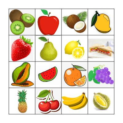 FRUIT Bingo Card