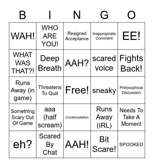 Elli's Horror Bingo Card