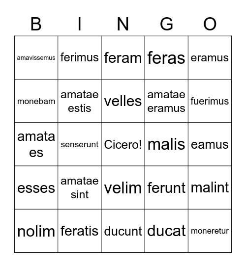 Vinco! Bingo Card