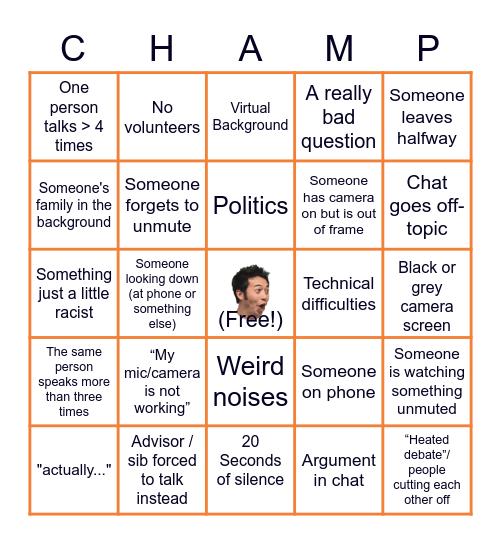 Advisory Bingo Card