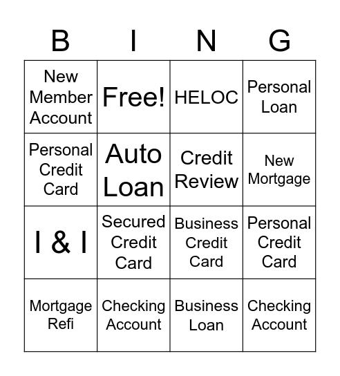 Referral Bingo Card