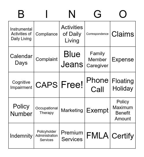 TriPlus Bingo Card