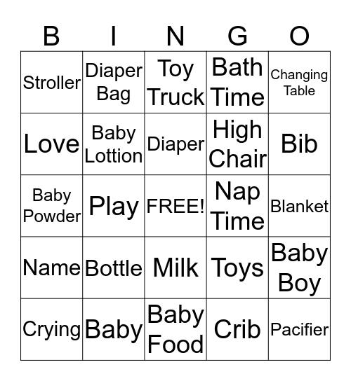 Baby Bingo Card