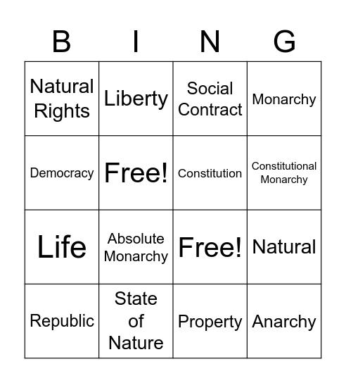 Why Government Bingo Card