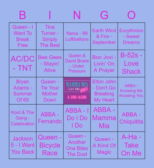 Mamma Mia Let Me Bingo Card