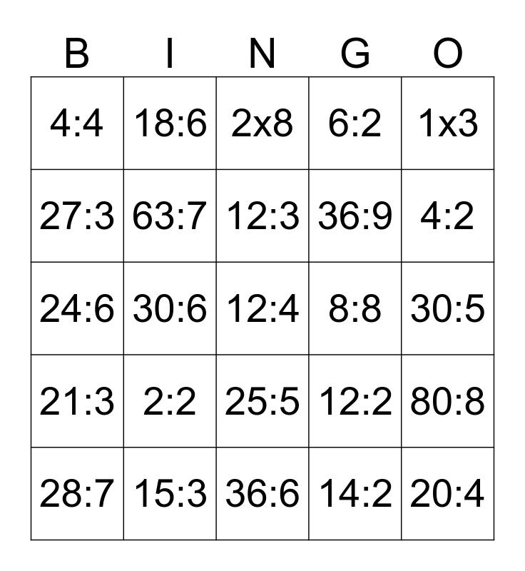 Tafelbingo - 3de leerjaar VBS Bingo Card