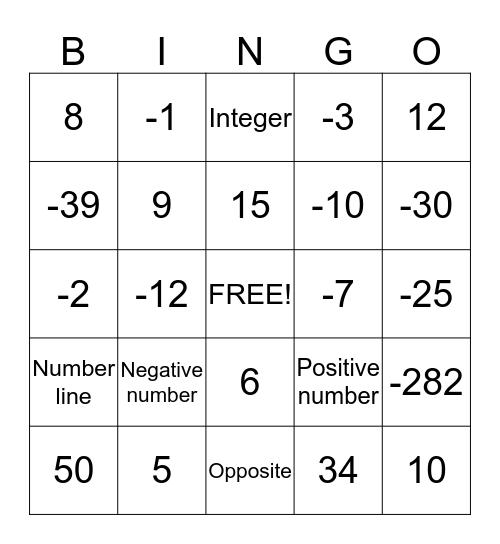daniel Bingo Card