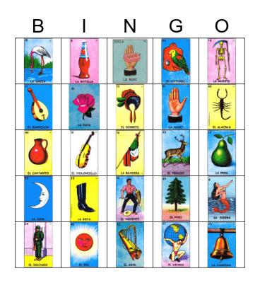 Loteria Bingo Card