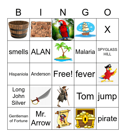 Treasure Island Bingo Ch. 9 Bingo Card