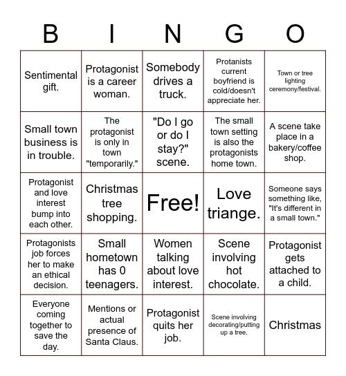 Hallmark Bingo Card