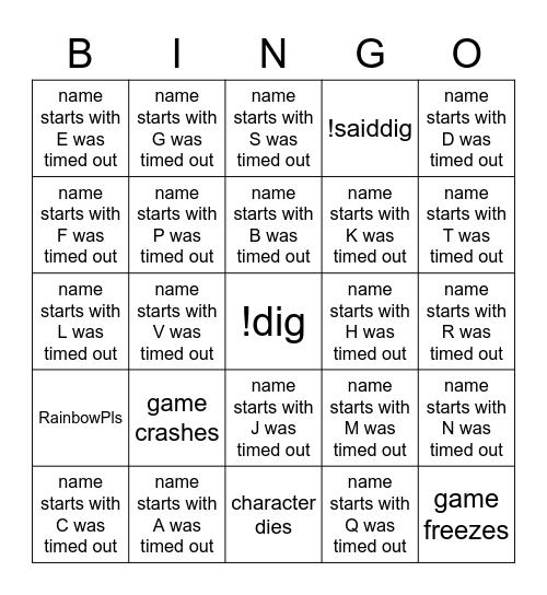 jorbs Baldur Bingo Card