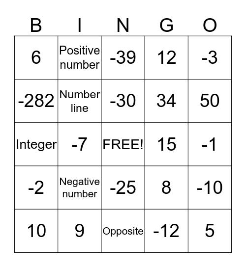 B-I-N-G-O!! Bingo Card