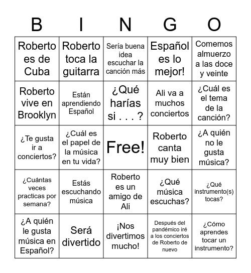 Español 8vo Bingo Card