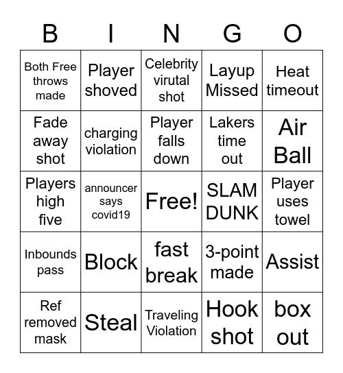 NBA FINALS Bingo Card