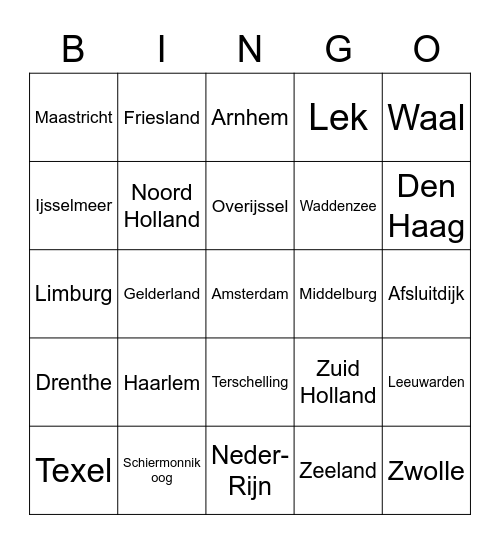TOPO Bingo Card