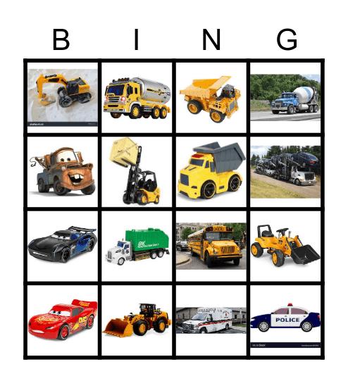 VEHICLES Bingo Card