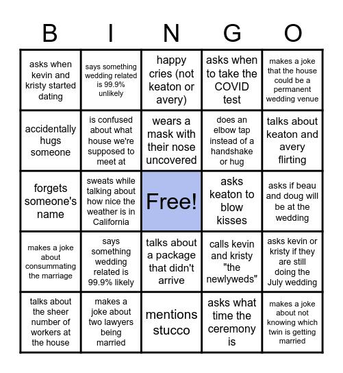 Beau & Doug's Awesome Bingo Challenge Bingo Card