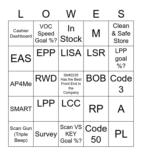 Front End Bingo Challenge Bingo Card