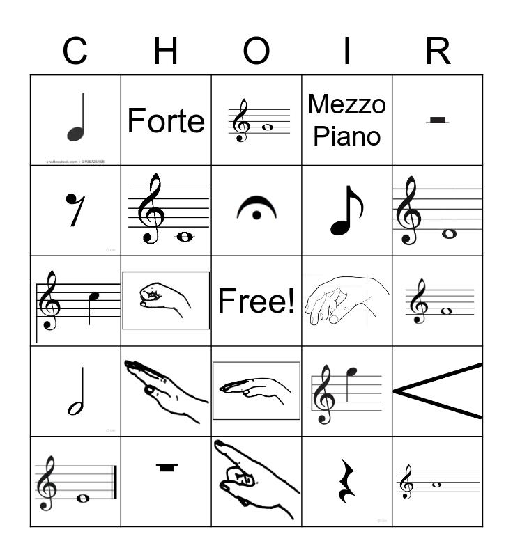 Music Review Bingo Card