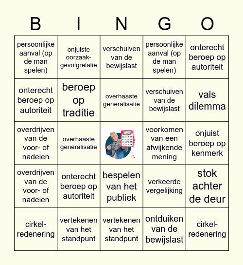 Herken de drogreden! Bingo Card