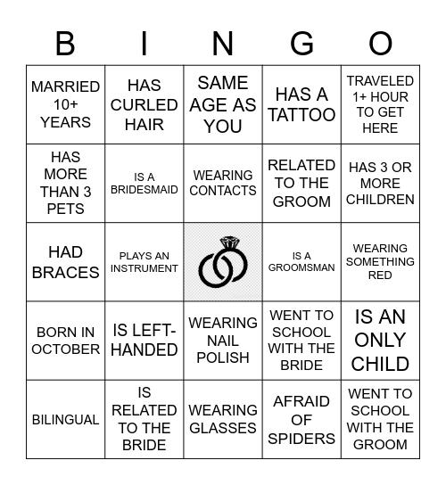 B R I D A L Bingo Card