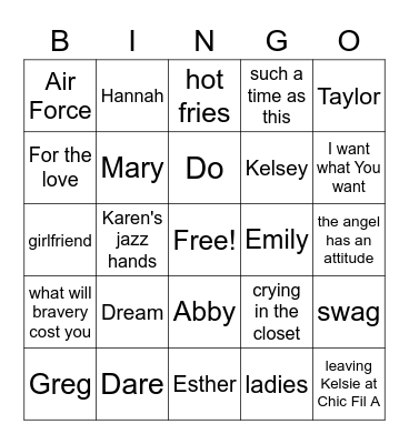 Soar Together Bingo Card
