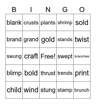 2.4 Bingo Card