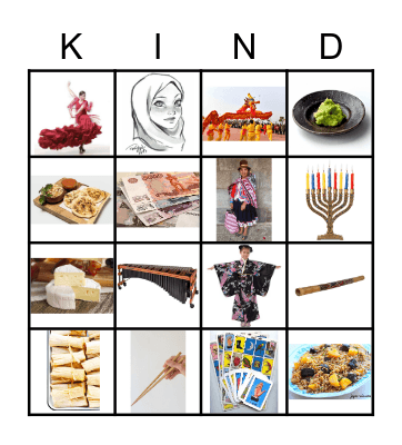 Accepting Differences Bingo Card