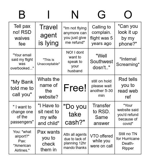 Res Bullshit Bingo Card
