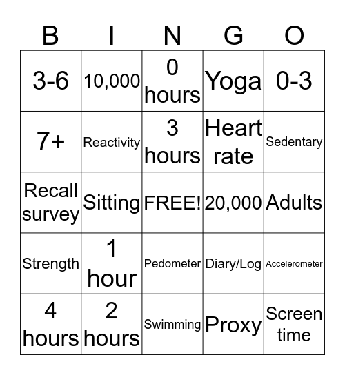 U4PECH1 Bingo Card