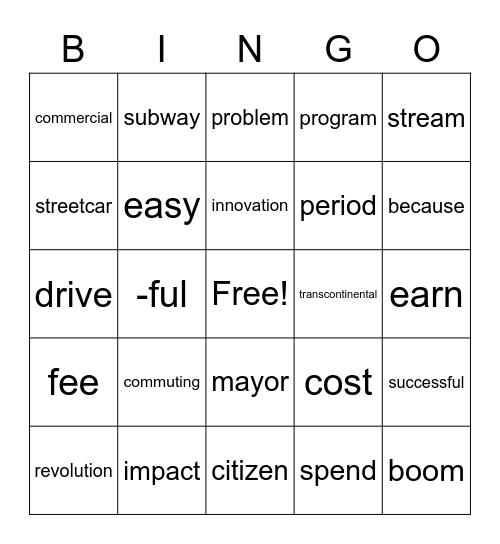 U3LB Bingo Card