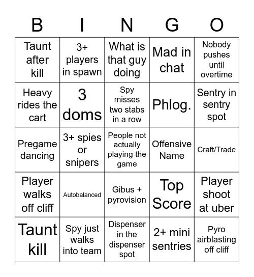 Tf2 Bingo Card