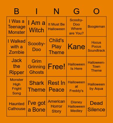 Spooky Musical Bingo 3 Bingo Card