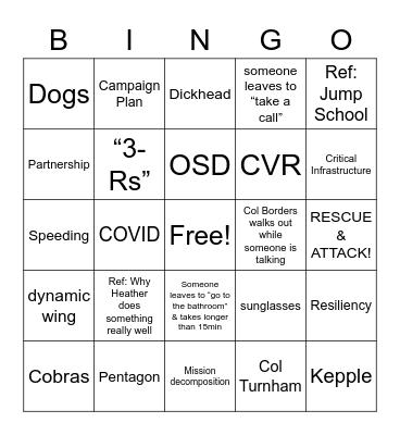 MSG Off-Site Bingo Card
