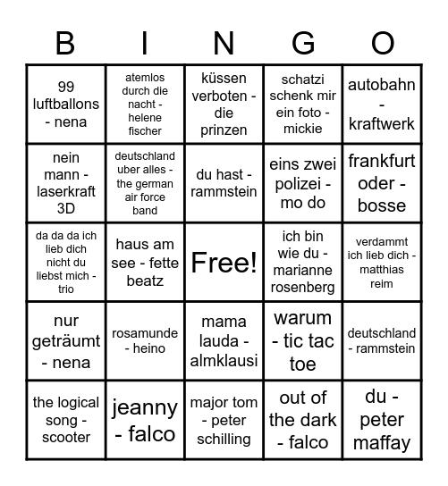 Musik!!! Tanzen!!! Bingo Card