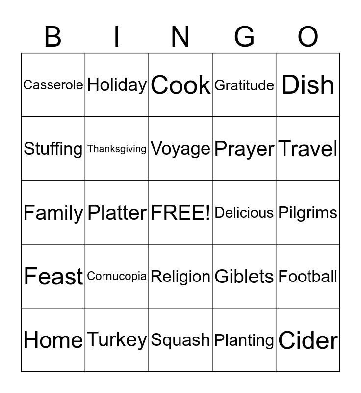Syngenta Bingo Card