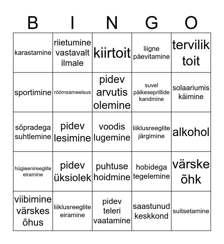 TEkiguhyu Bingo Card