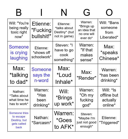 Bobby Bingo Card
