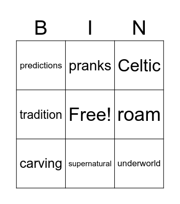 The History of Halloween Bingo Card