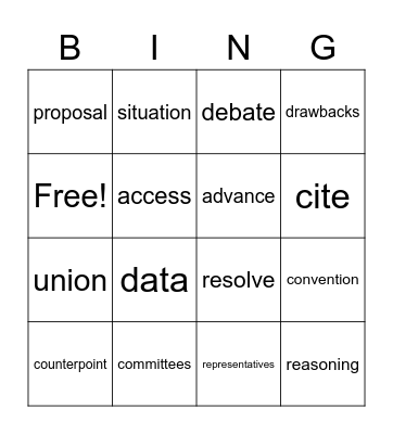 Unit 2 Week 1 Bingo Card