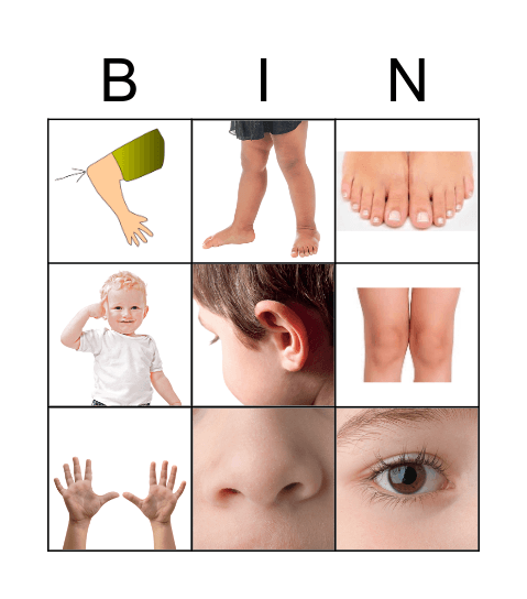 Body Bingo! Bingo Card